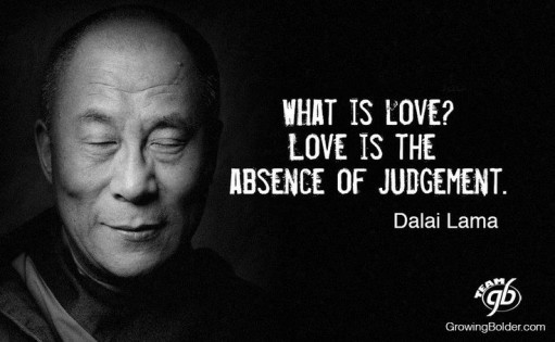The Dalai Lama advertising absence of judgement